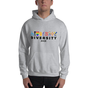 Hooded Sweatshirt---Diversity---Click for more shirt colors