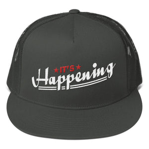 Trucker Cap---It's Happening Red/White Design--Click for More Hat Colors