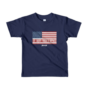 Toddler Short sleeve kids t-shirt---Life, Liberty, Pursuit of Happiness---Click for more shirt colors