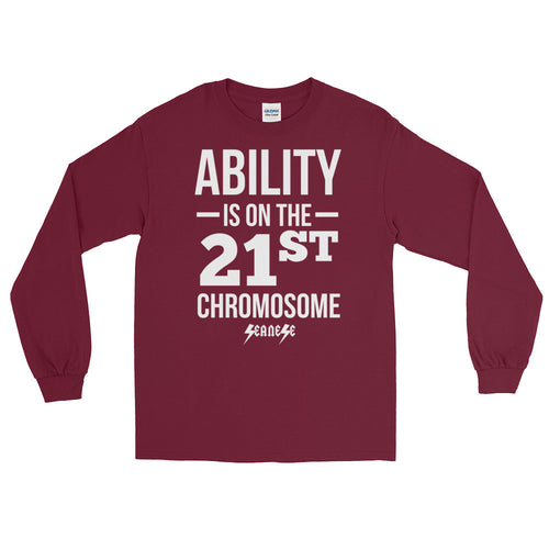 Long Sleeve WARM T-Shirt------Ability White Design---Click for more shirt colors