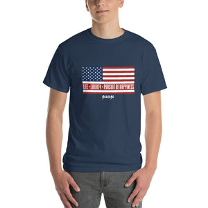 Short-Sleeve T-Shirt Thick Cotton to Make Dad Happy---Short-Sleeve Unisex T-Shirt---Life, Liberty, Pursuit of Happiness---Click for more shirt colors