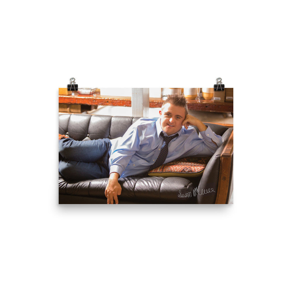 Poster Autographed Sean on Couch 24x18