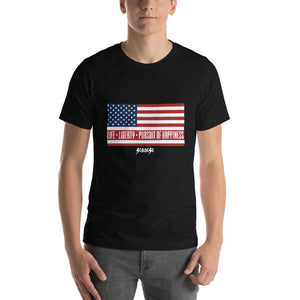 Short-Sleeve Unisex T-Shirt---Short-Sleeve Unisex T-Shirt---Life, Liberty, Pursuit of Happiness---Click for more shirt colors