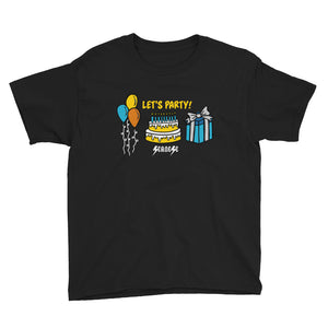 Youth Short Sleeve T-Shirt---Birthday Let's Party---Click for More Shirt Colors