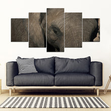 Elephant Close up Multi-panel Canvas Wall Art