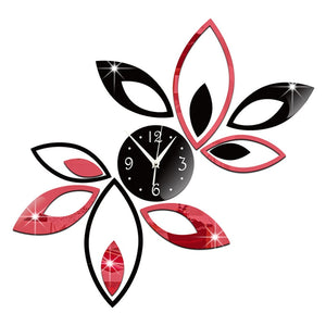 Crystal Petal Wall Clock