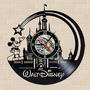 Walt Disney Vinyl Record Wall Clock