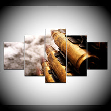 Military Bullet Weapons Canvas Print 5 Piece