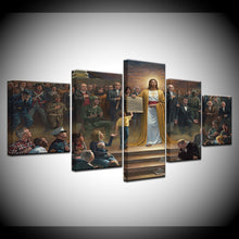 Jesus Returns to Earth Canvas Print 5 Piece