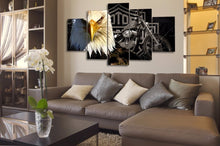 Eagle Motorcycle Canvas Print 5 Pieces