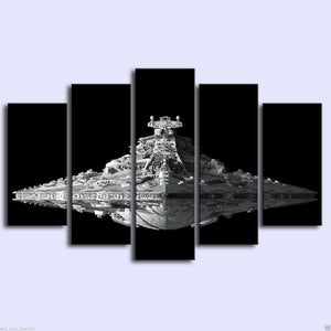 Captivating Star Wars Imperial Star Destroyer 5 Piece Canvas Wall Art Print   Limited  Edition