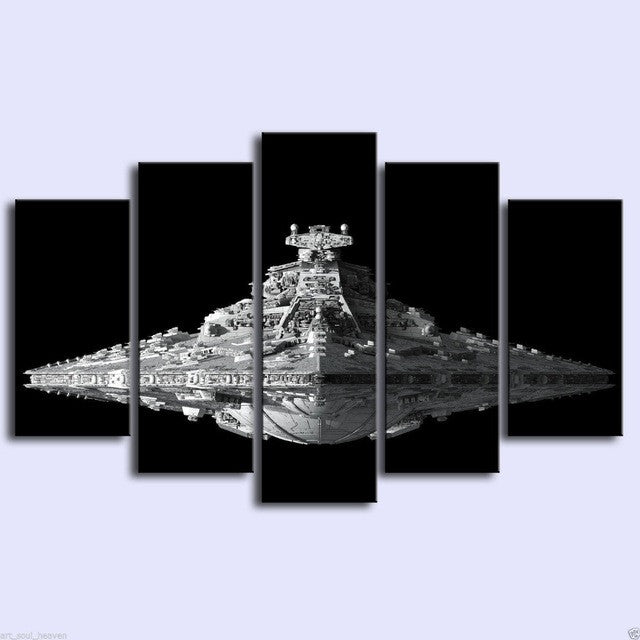 Star Wars Imperial Star Destroyer 5 piece Canvas Wall Art Print - Limited Edition
