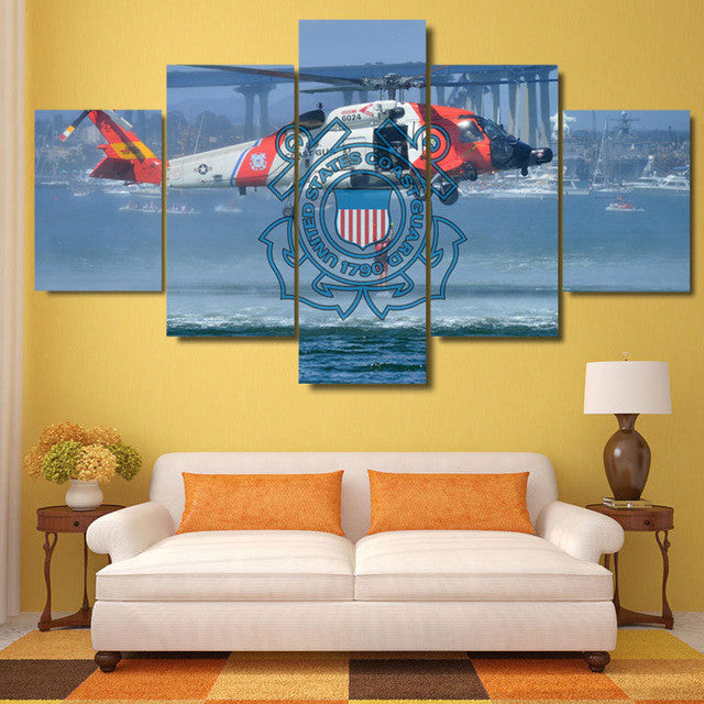U.S. Coast Guard 5 piece Canvas Wall Art Print - Limited Edition