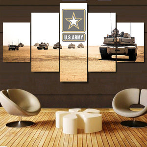 U.S. Army 5 piece Canvas Wall Art Print - Limited Edition