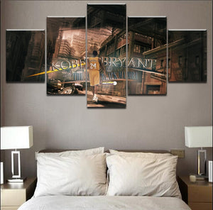 Kobe Bryant 5 Piece Canvas Print