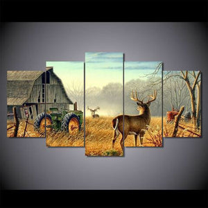 Whitetail Buck and Monster Buck Whitetail Deer 5 piece Wall Print - Limited Edition