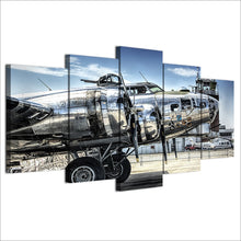 Military Aircraft Canvas Print 5 Piece
