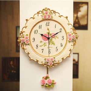 Rose Quartz Swing  Wall Clock