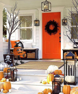 Pirate Pun'kin Head on porch - #7055inc