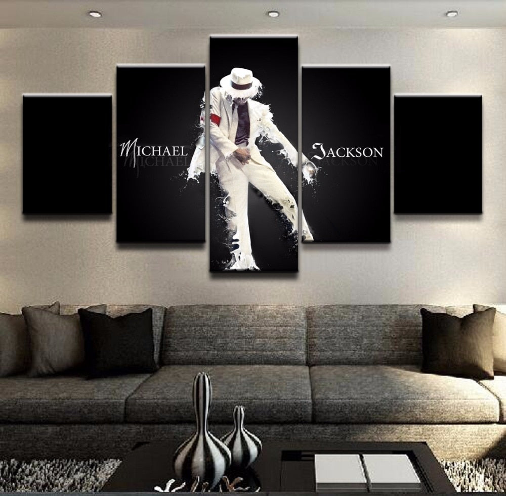 Michael Jackson Canvas Print 5 Pieces