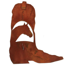 Cowboy Boot - Horse Head Scene - natural rust patina - #7055inc