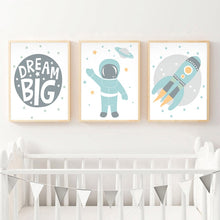 Astronaut Space Rocket  Canvas Print
