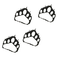 Bear Paw Prints -set of four-hammered black-metal decor-#7055inc