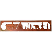 Metal Wall Art Bear Rectangle