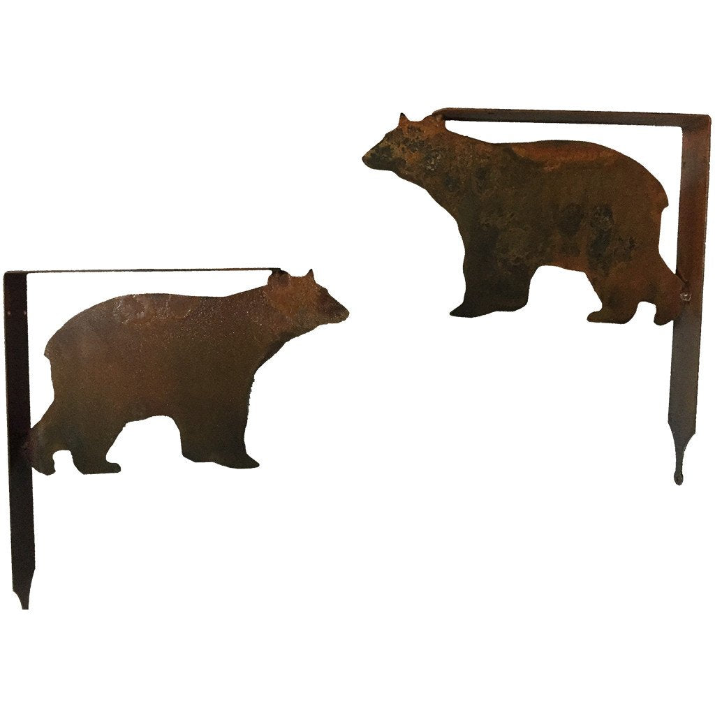 Bear Shelf Bracket Set - Rust - #7055inc