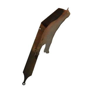 Bear Shelf Bracket-Sideview-Rust-#7055inc