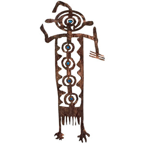 Petroglyphs - Bob - blue  - metal wall art - #7055inc