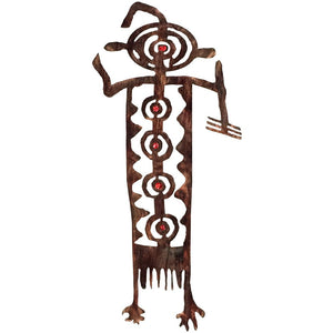 Petroglyphs - Bob - red - metal wall art - #7055inc