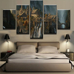 Lord Of The Rings Canvas Print 5 Pieces