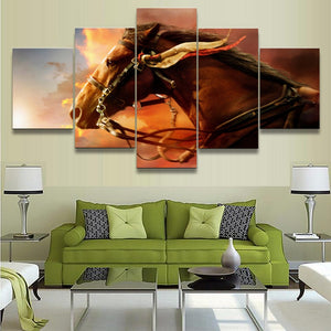 Horse on the run Canvas Print 5 Pieces