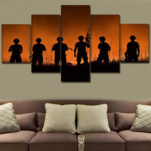 Military Soldiers Canvas Print
