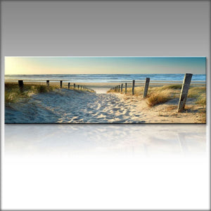 Ocean Beach Nature Wind Landscape Canvas Print