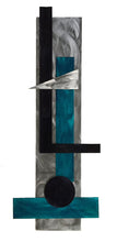 Carpenter - metal wall sculpture - teal - #7055inc