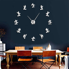 "Cartoon Mouse Wall Clock 37"" 47"""