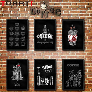 Coffee Art Canvas Paint