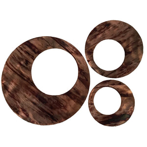 Contemporary Circles - metal wall art - distressed copper - #7055inc