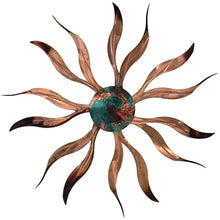 Desert Sun - Teal Swirl - metal wall sculpture - #7055inc