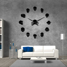 "Skull Heads Wall Clock 37"" 47"""