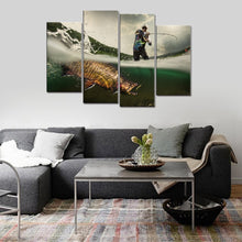 Fishing Picture Big Fish Canvas Print