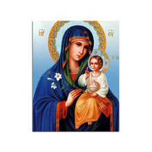Virgin Mary Jesus Wall Art Orthodox Canvas Print