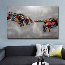 Graffiti Pop Art Hands Canvas Print