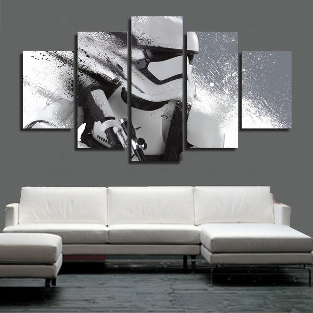 Star Wars Storm Trooper 5 Piece Canvas Wall Art Print   Limited Edition