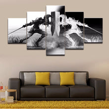 Fighters Black and White Canvas Print 5 Pieces