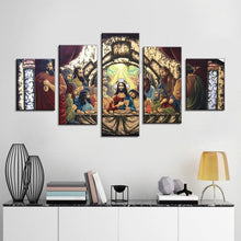 Jesus Last Supper Canvas Print 5 Pieces