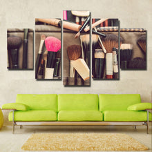 Makeup Tools Canvas Print 5 Pieces