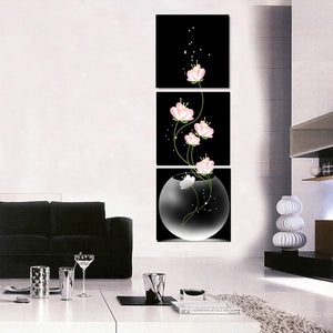 Beautiful Flower Canvas Print 3 Pieces